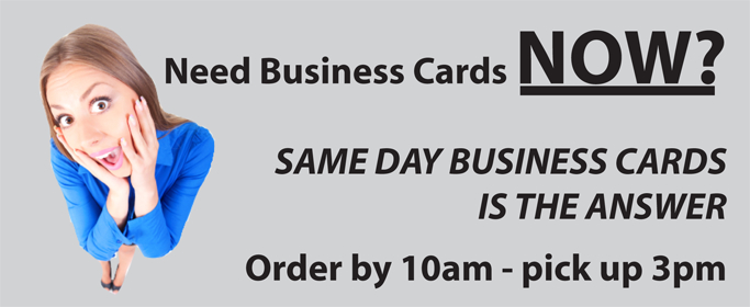 banner - Same Day Business Cards